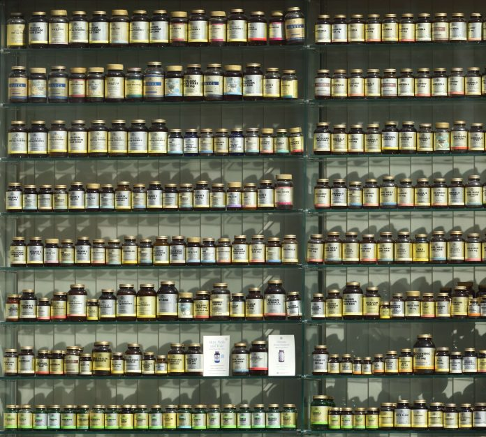 Collagen supplements on a rack (1)
