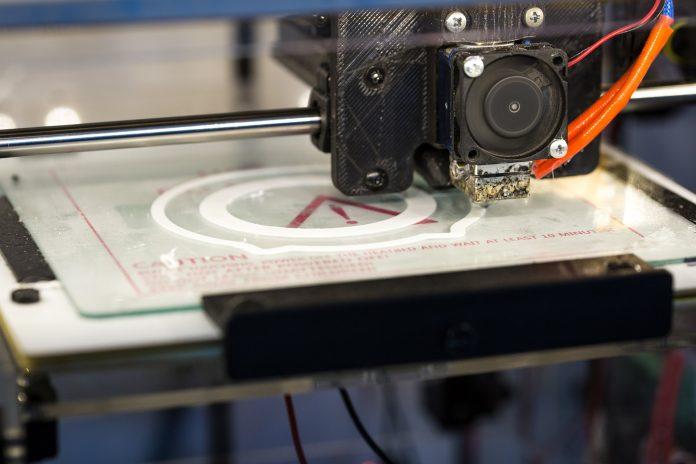 3D printer in use